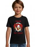 tee-shirt niçois gris pour les enfants, flocage dos #pichin nissart