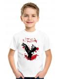 Pichin nissart, le tshirt # de Nice pour les enfants, flocage #pichin nissart dans le dos