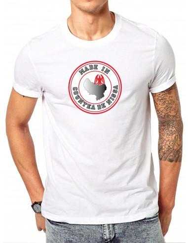 Nikaïa tee shirt gris du guerrier grec de Nice